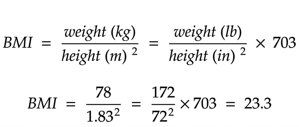 BMI formula calculator