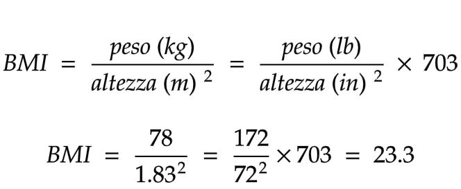 formula per il calcolo dell'indice di massa corporea (BMI) ricktroy.com